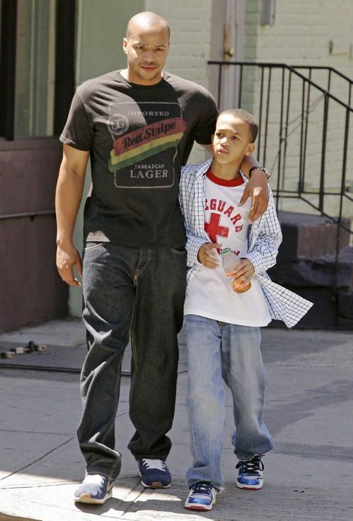 Donald Faison e suo figlio