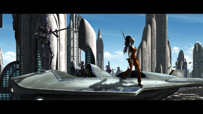 Un'immagine dell'episodio Hostage Crisis di Star Wars: Le guerre dei cloni