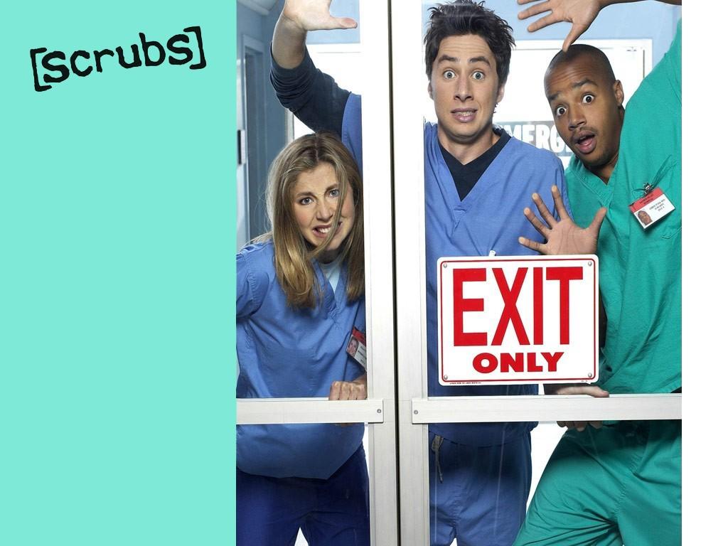 Un wallpaper della serie medical-comica Scrubs