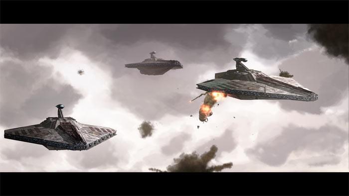 Una battaglia dell'episodio Innocents of Ryloth di Star Wars: Le guerre dei cloni