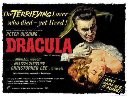 Una bella lobbycard promozionale di Dracula il vampiro