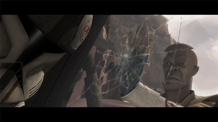 Una scena dell'episodio Liberty on Ryloth di Star Wars: Le guerre dei cloni