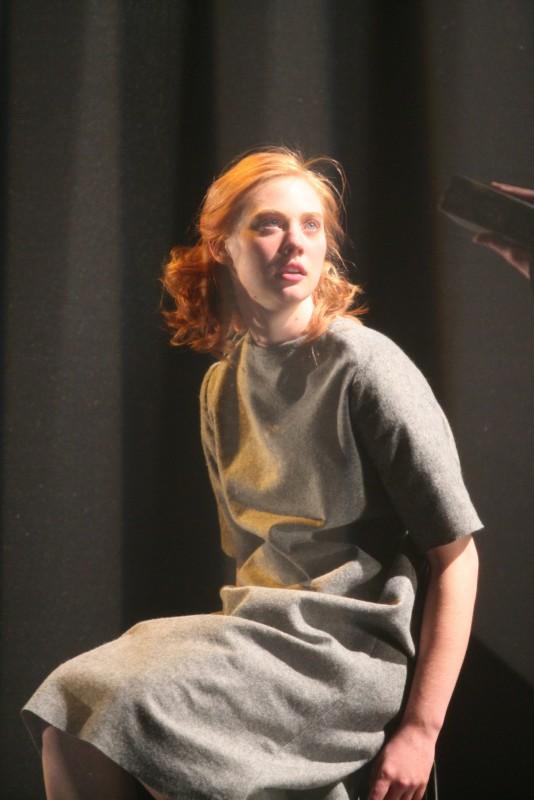 Deborah Ann Woll  durante lo spettacolo teatrale \'Machinal\'