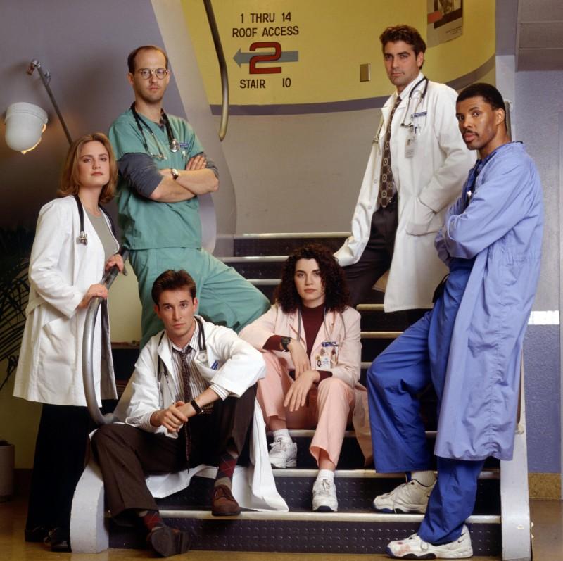 E.R. - Medici in prima linea - immagine promo del cast storico - Stagione 1