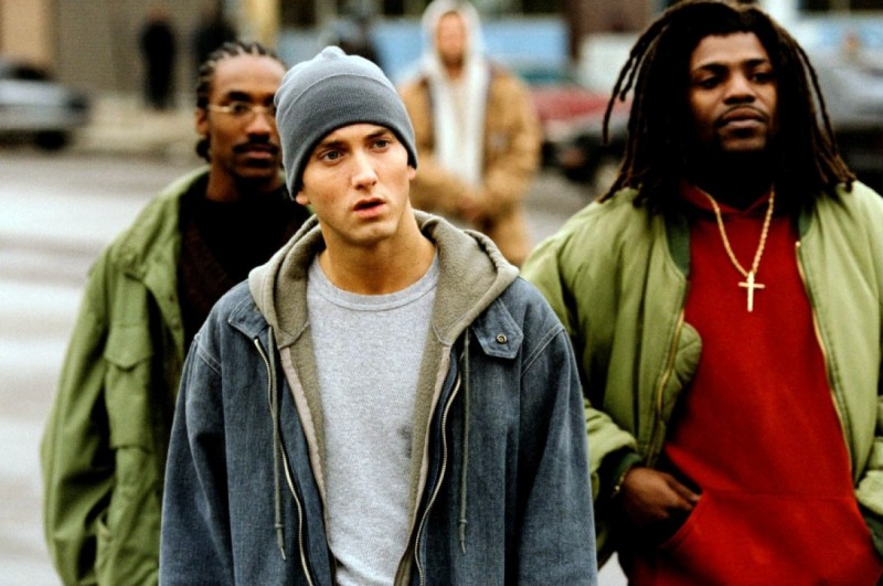 Eminem con Mekhi Phifer in 8 Mile
