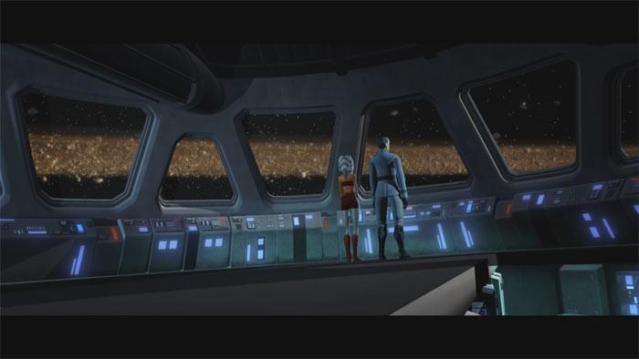 Una scena dell'episodio 'Downfall of a Droid' della serie tv Star Wars: Le guerre dei Cloni
