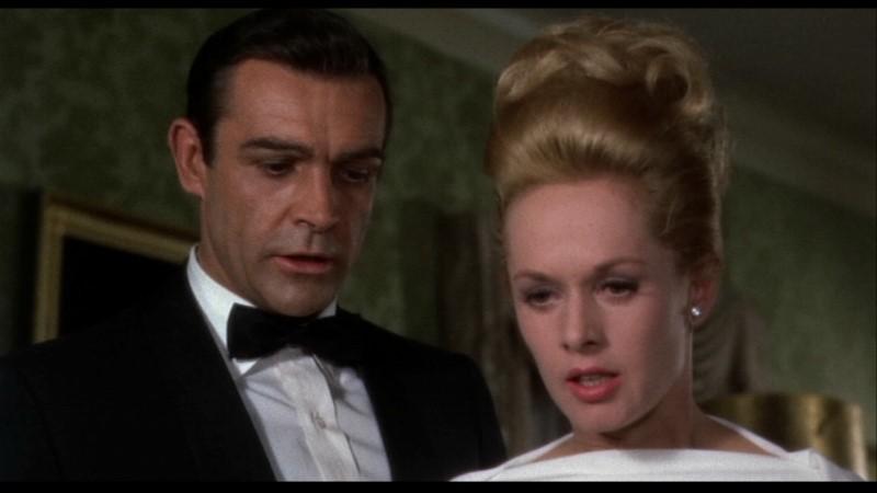Tippi Hedren e Sean Connery in una scena di Marnie, di Alfred Hitchcock