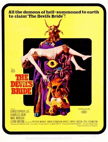 Locandina americana di 'The Devil Rides Out'