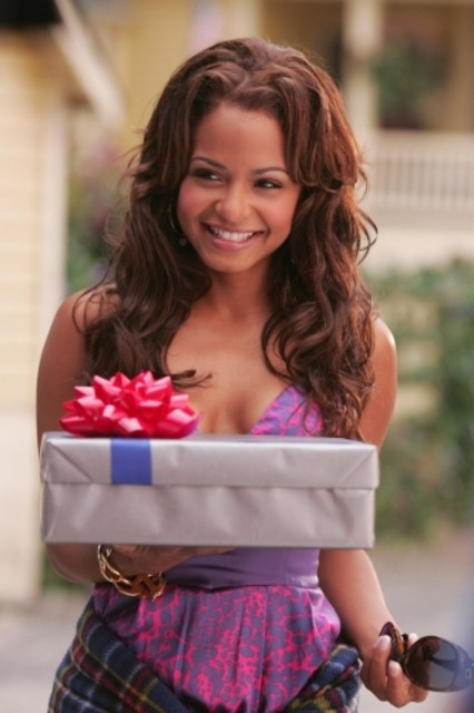 Christina Milian in una scena dell'episodio ' Il supereroe' della serie tv Smallville