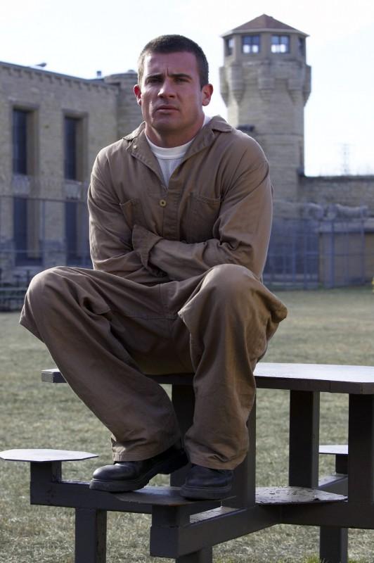 Dominic Purcell in una foto promo del serial Prison Break