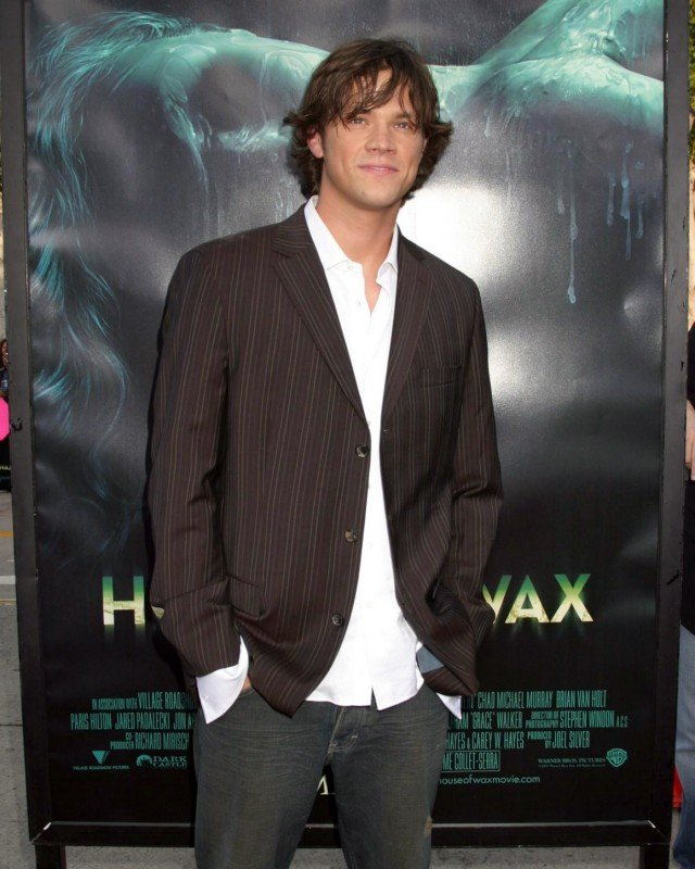 Jared Padalecki alla premiere del film La maschera di cera