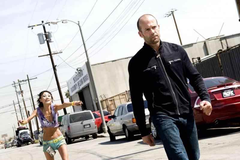 Jason Statham e Bai Ling in una sequenza di Crank 2: High Voltage