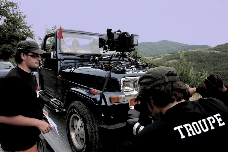 Preparazione delle riprese in camera-car di IN THE MARKET