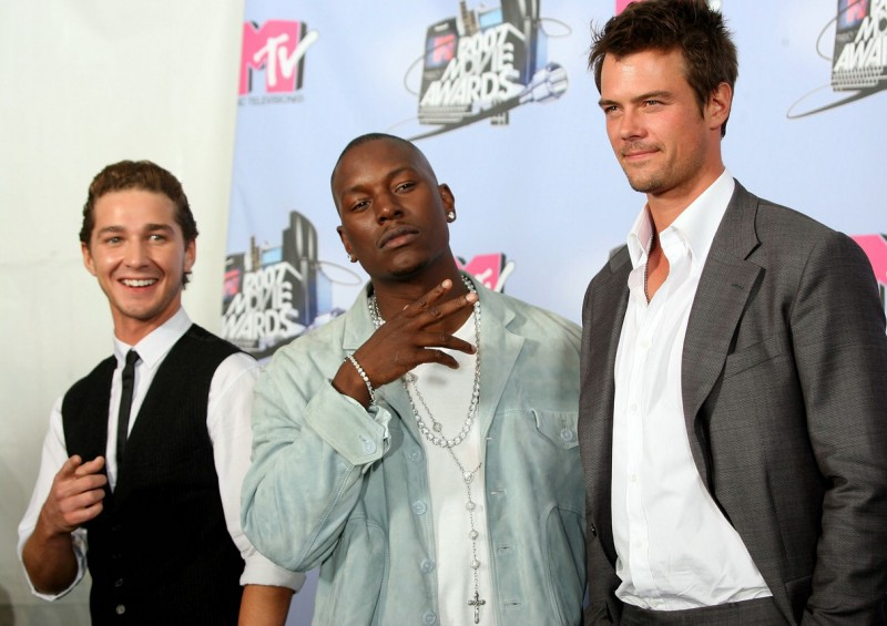 Shia LaBeouf, Tyrese Gibson e Josh Duhamel ai Mtv Movie Awards 2007