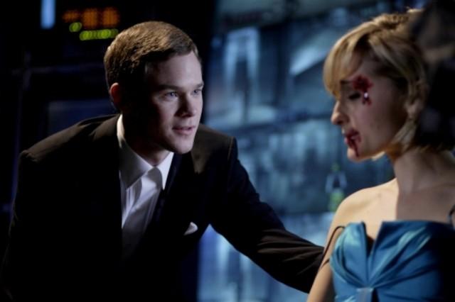 Aaron Ashmore  insieme ad Allison Mack in una scena dell'episodio ' Sleeper ' della serie tv Smallville
