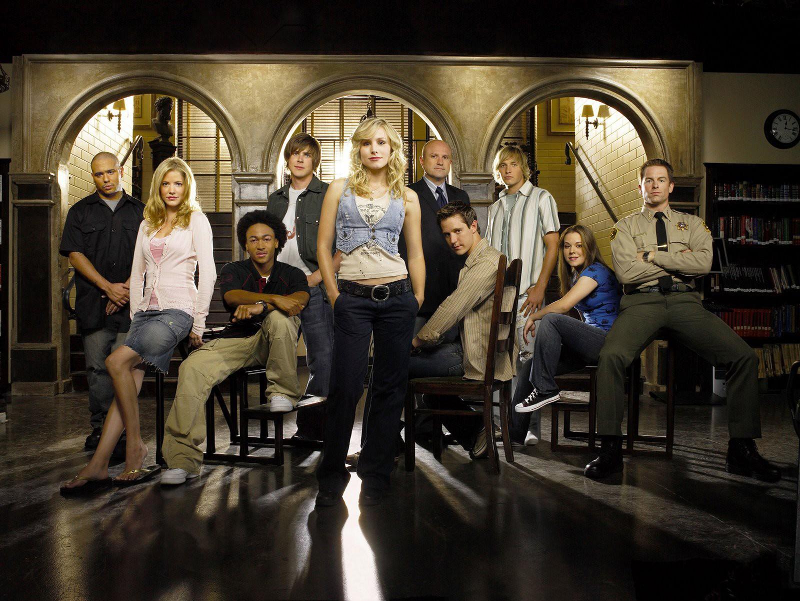 Cast della terza stagione di Veronica Mars in un wallpaper della serie.