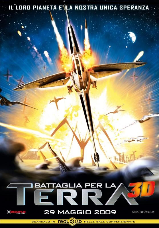 La locandina italiana di Battaglia per la Terra 3D
