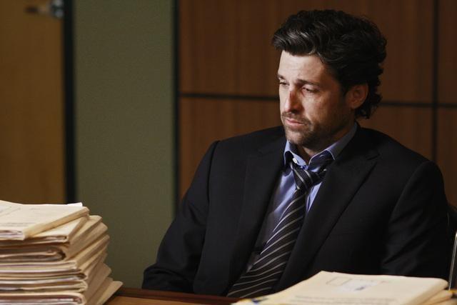 Patrick Dempsey in una scena dell'episodio I Will Follow You Into the Dark di Grey's Anatomy