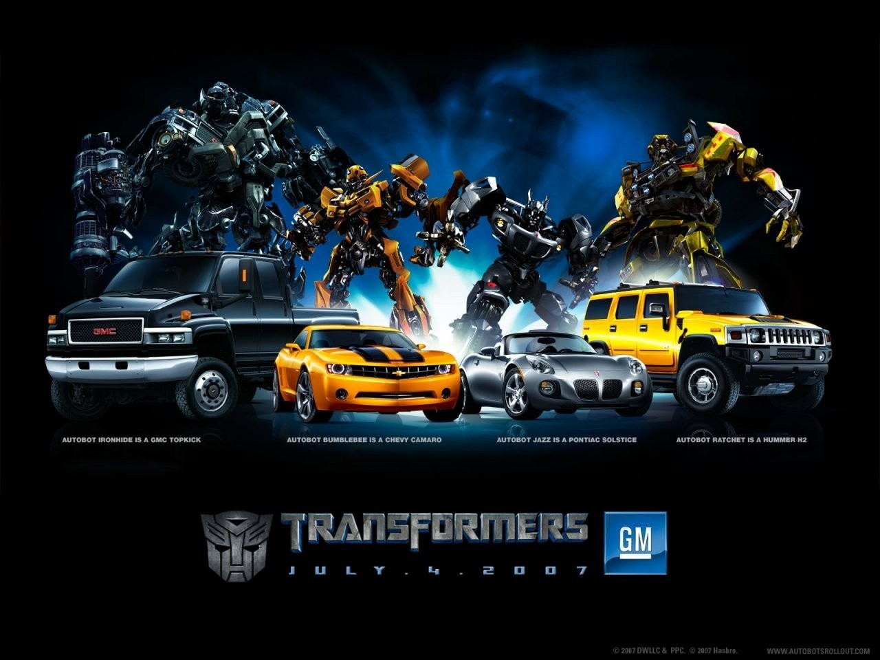 Un wallpaper del film Transformers