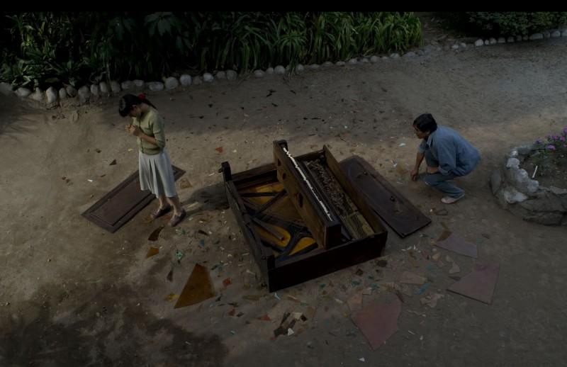 Una scena del film Il canto di Paloma