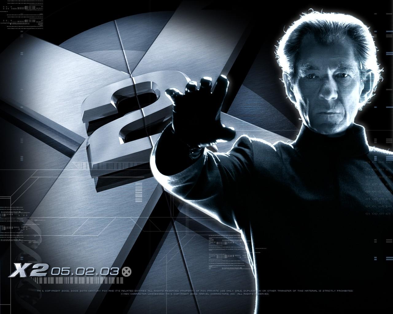 X-men 2:  wallpaper con Ian McKellen
