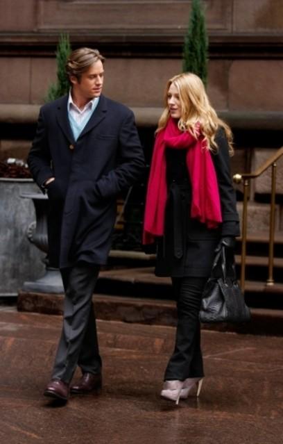 Blake Lively ed Armie Hammer in un momento dell'episodio The Wrath of Con di Gossip Girl