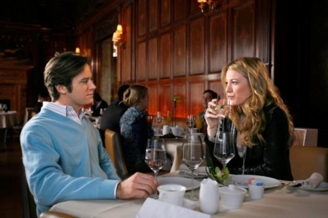 Blake Lively ed Armie Hammer nell'episodio The Wrath of Con di Gossip Girl