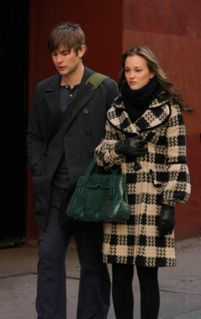 Chace Crawford e Leighton Meester in una scena dell'episodio Southern Gentlemen Prefer Blondes di Gossip Girl