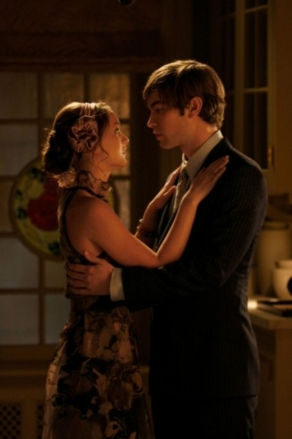 Chace Crawford e Leighton Meester nell'episodio Seder Anything di Gossip Girl