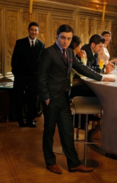 Ed Westwick in una scena dell'episodio The Wrath of Con di Gossip Girl