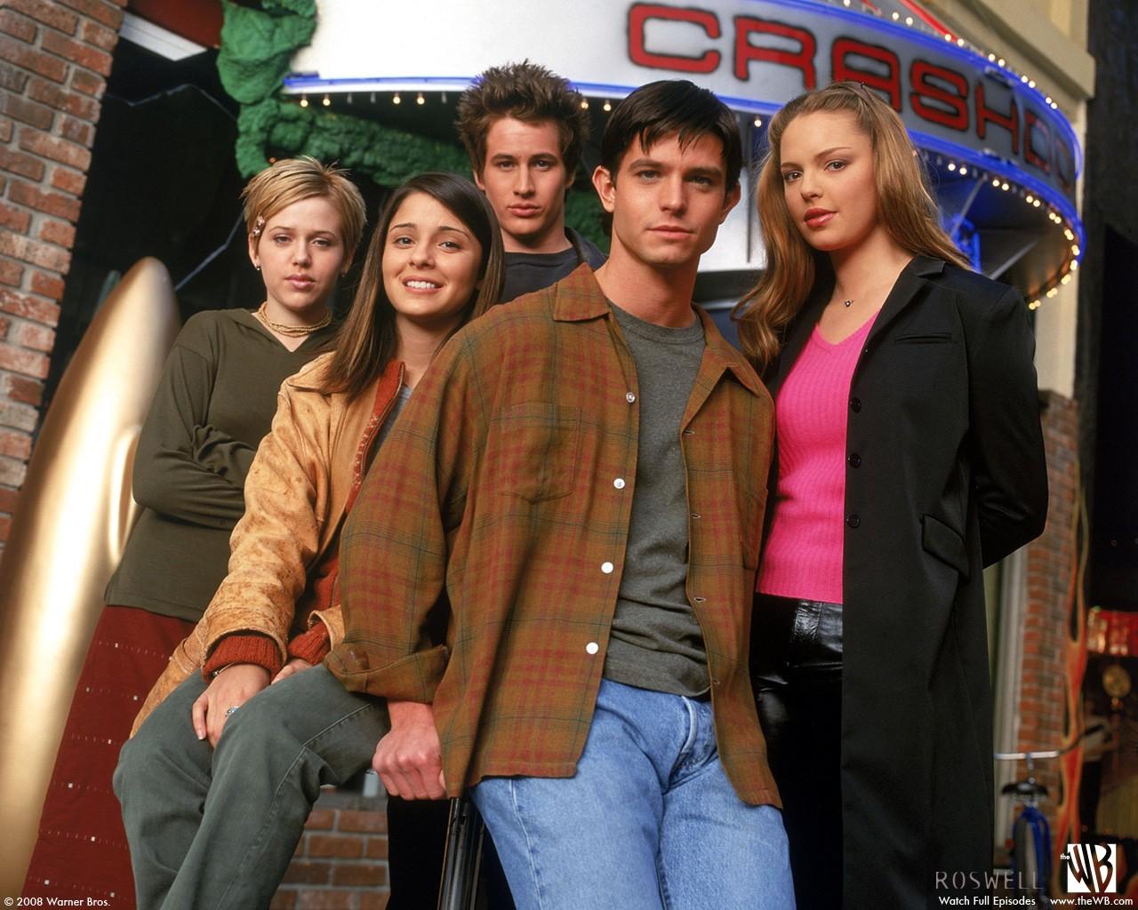Wallpaper del cast principale di Roswell