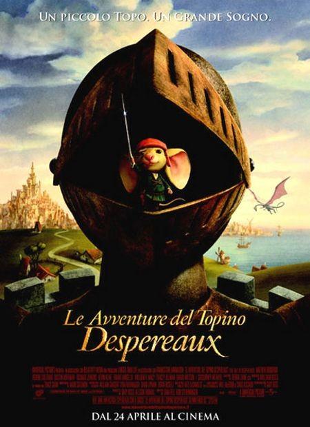 La locandina italiana di Le avventure del topino Despereaux