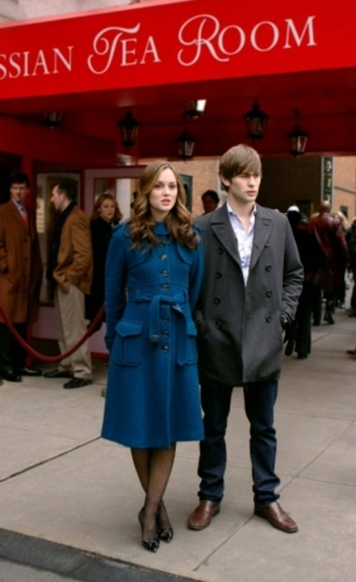 Leighton Meester e Chace Crawford in una scena dell'episodio The Wrath of Con di Gossip Girl