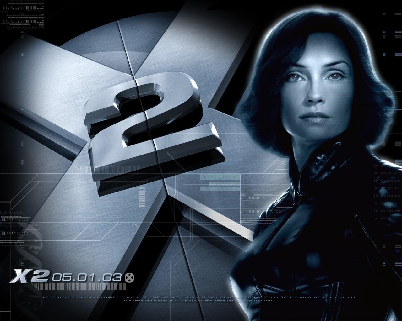 X-men 2: un wallpaper di Famke Janssen