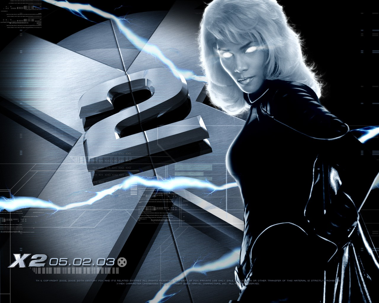 X-men 2: wallpaper con Halle Berry