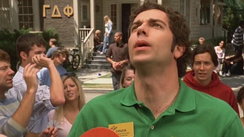 Zachary Levi in un momento dell'episodio Chuck Versus the Ex della seconda stagione di Chuck