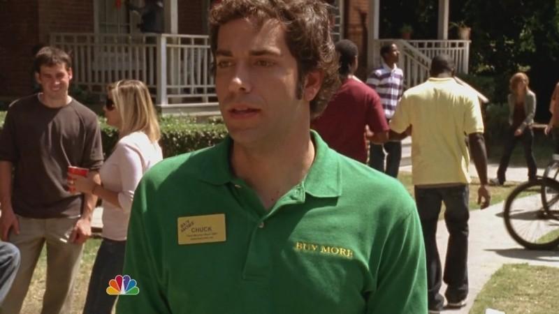 Zachary Levi in una scena dell'episodio Chuck Versus the Ex della seconda stagione di Chuck