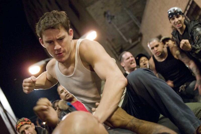 Channing Tatum in una scena del film Fighting