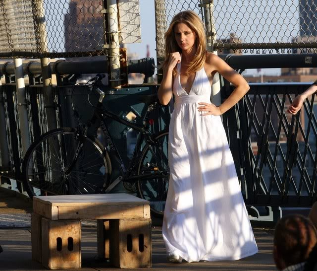 Sarah Michelle Gellar sul set del film  Veronika Decides to Die