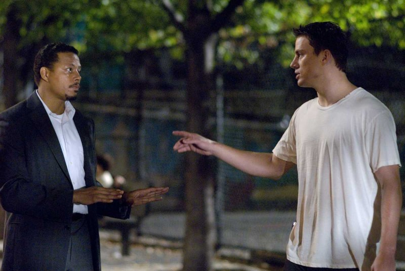 Terrence Howard e Channing Tatum in una scena del film Fighting