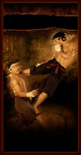 Tony Jaa e una delle tecniche della Muay Boran per Ong Bak - Nato per combattere
