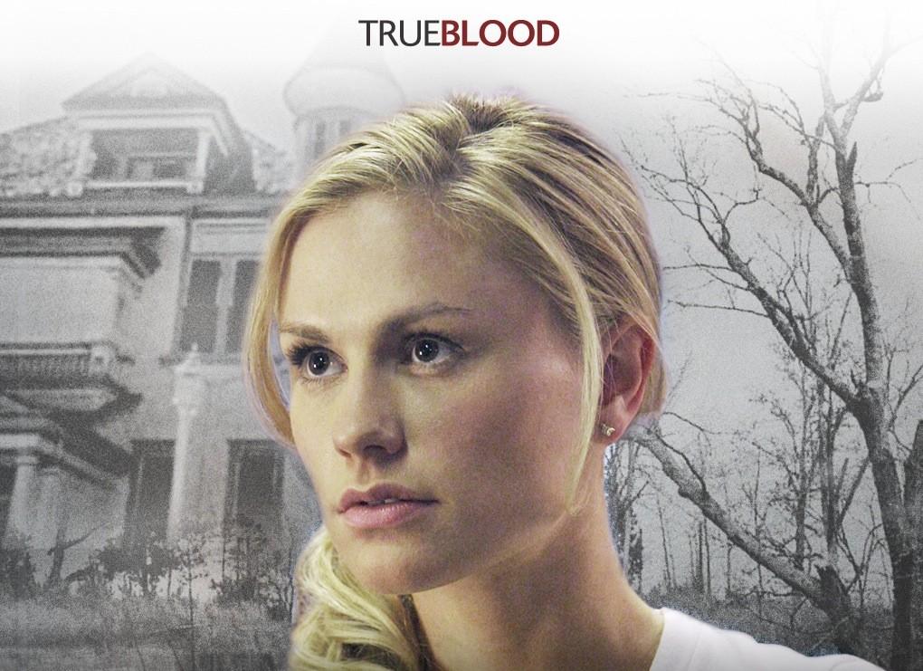 Un wallpaper della serie tv True Blood con Anna Paquin