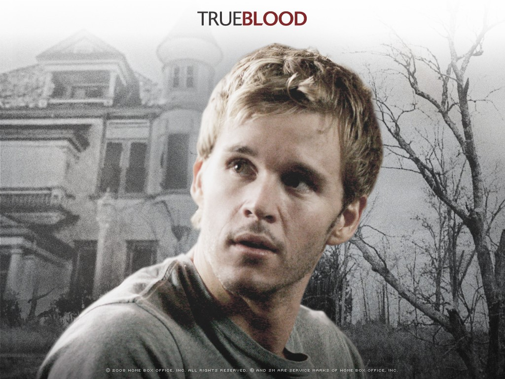 Un wallpaper della serie tv True Blood con Ryan Kwanten