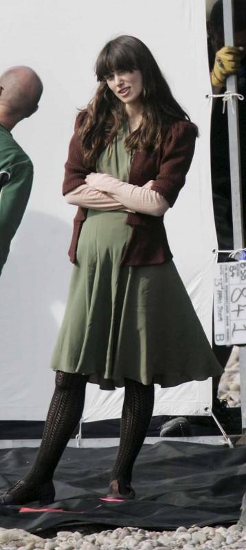 Keira Knightley al lavoro sul set inglese di Never Let Me Go