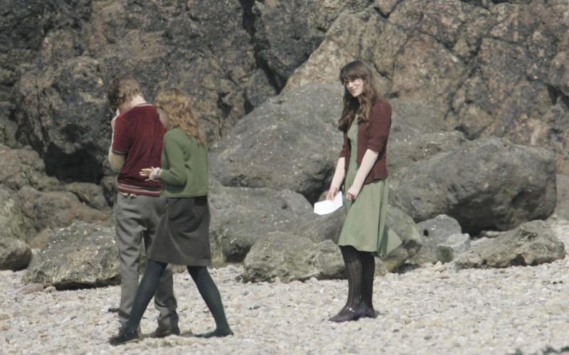 Keira Knightley e Carey Mulligan sulla spiaggia di Clevedon girano gli esterni di Never Let Me Go