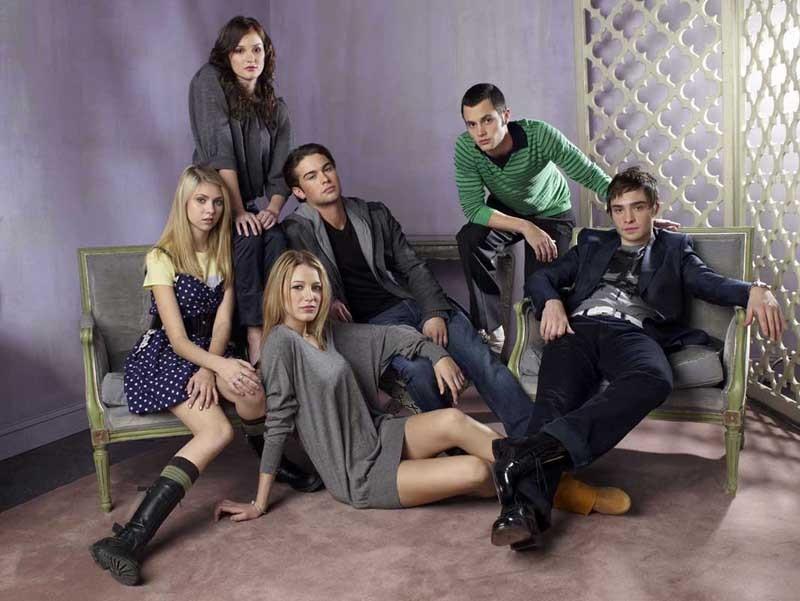 Cast principale di Gossip Girl in un promo