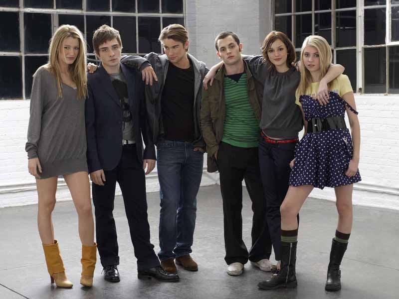 Il cast di Gossip Girl in una foto promozionale