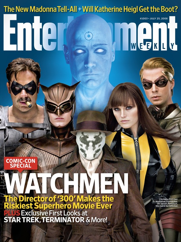 La copertina di Entertainment Weekly dedicata a Watchmen