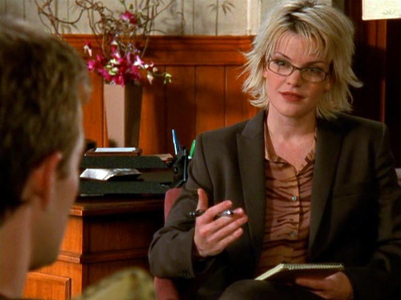 James Van Der Beek e Pauley Perrette nell'episodio 'Il testamento' della 5 stagione di Dawson's Creek