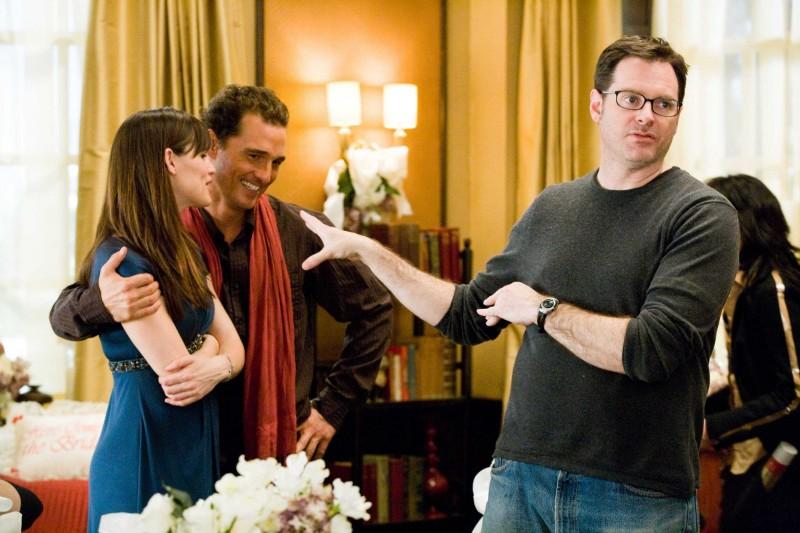 Jennifer Garner, Matthew McConaughey e il regista Mark Waters sul set del film La rivolta delle ex